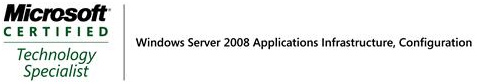 Windows Server 2008 Applications Infrastructure, Configuration